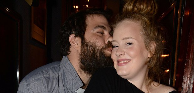 Adele and her boyfriend Simon Koneck