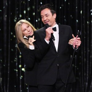 Barbra Streisand and Jimmy Fallon