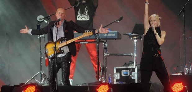 Sting and Gwen Stefani at Global Citizen Festival