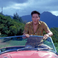 Elvis in the red MG sports car from Blue Hawaii
