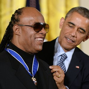 Stevie Wonder and Barack Obama