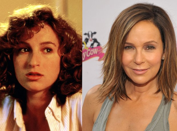 Jennifer Grey then and now
