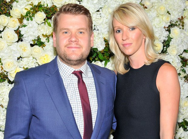 James Corden and wife Julia Carey