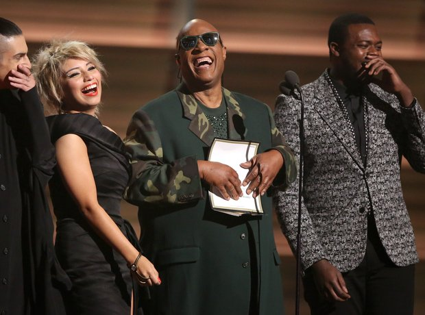 Stevie Wonder and Pentatonix at the Grammy Awards