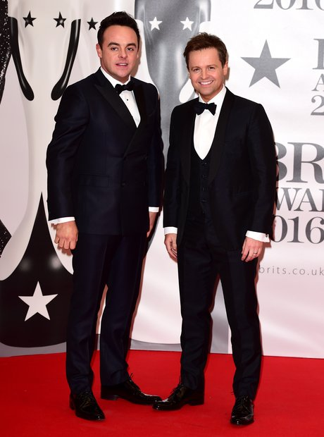 Ant and Dec Red Carpet Arrivals Brit Awards 2016
