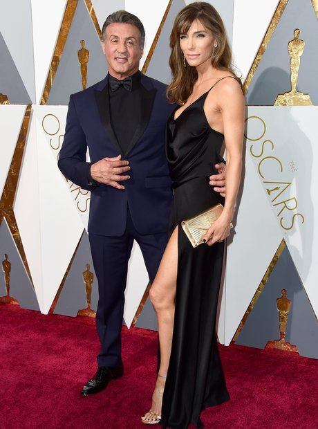 Sylvester Stallone And Wife Jennifer Flavin - The Oscars ...