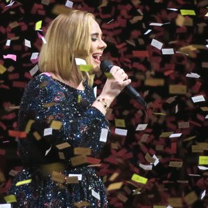 Adele and the confetti