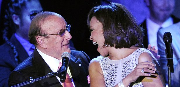 Whitney Houston and Clive Davis Grammys 2011