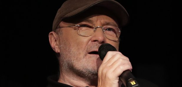 Phil Collins speaking at the Royal Albert Hall in